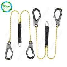 Heavy Duty Climbing Fall Protection Polyester Safety Harness Rope With Snap Hook