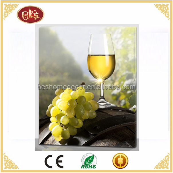 wine subject led lighted pictures lighted canvas wall art for home decor