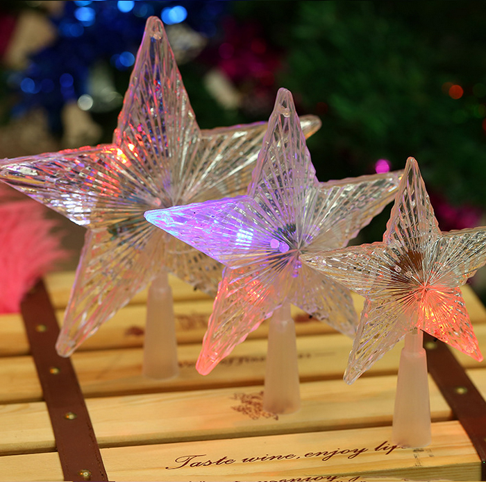 LED Plastic Christmas tree top star for Christmas decorations