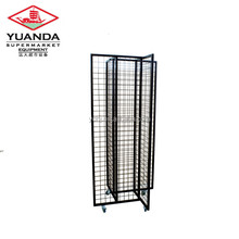 Supermarket Hanging Hook Four Side Metal Wire Display Stand Rack