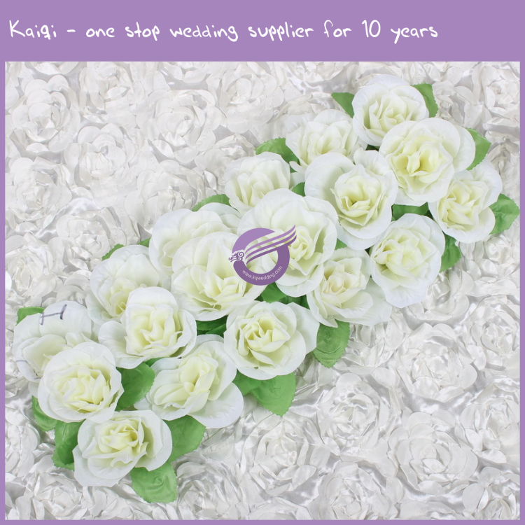 K9583 New Wedding Wall Decoration Backdrop Silk Rose Artificial Flower