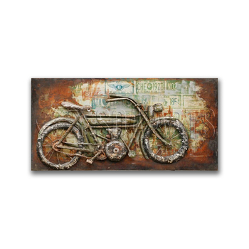 Antique Rustic Bicycle Large Wall Art For Decor - Buy Large ...