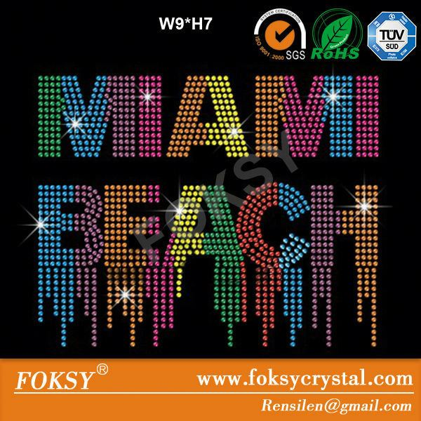 foksy custom rhinestone design miami beach
