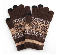 Touch screen jacquard acrylic knitted glove