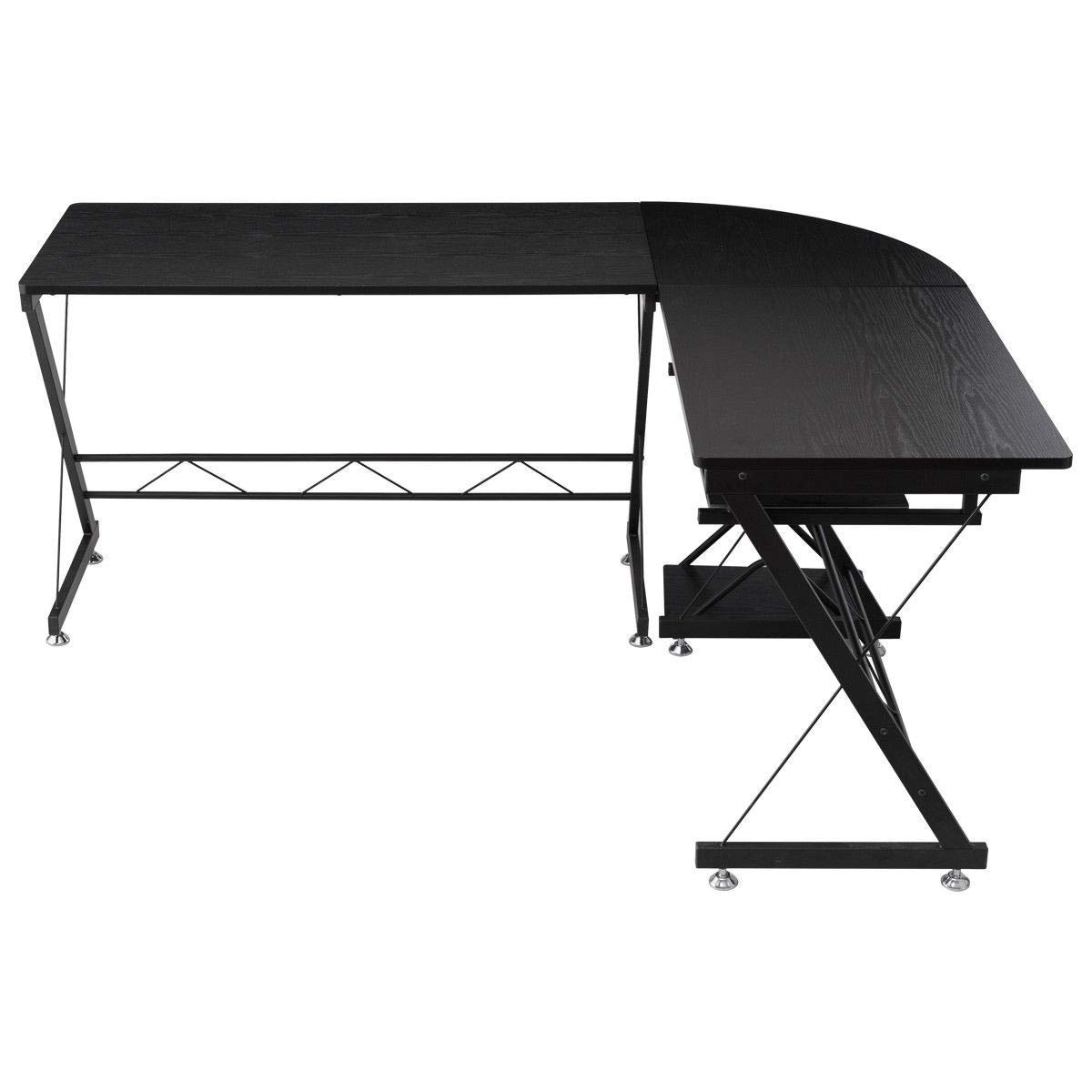 L-Shape Corner Computer Study Desk Laptop Table Workstation Home Office Furniture BeUniqueToday