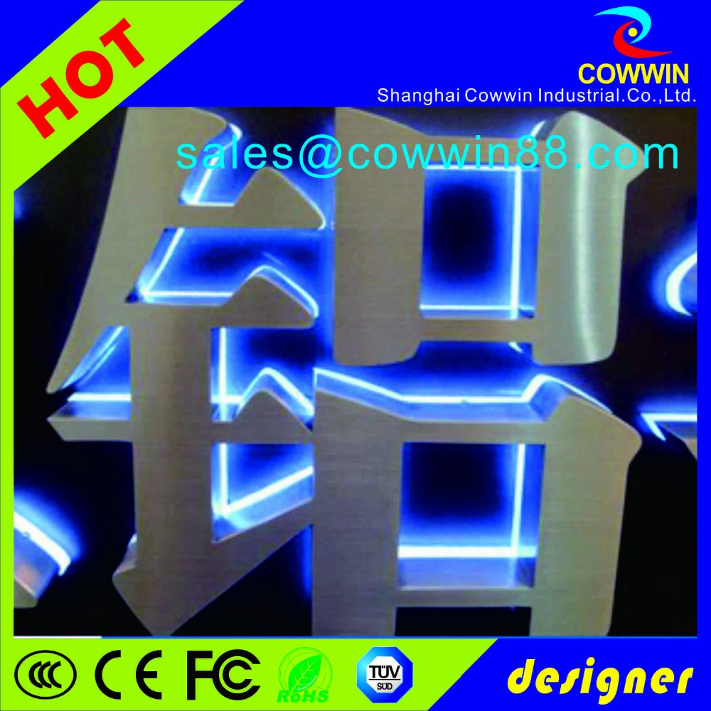 Diy Mirrored stainless steel metal letters for sign finely polished