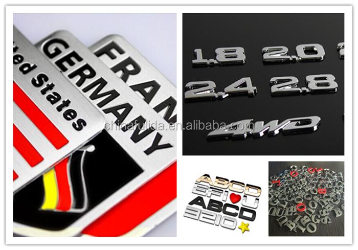 Custom D ABS Chrome Car Logo Emblem With M Adhesive Sticker - Car sign with namescustom car logodie casting abs car logos with names brand emblem