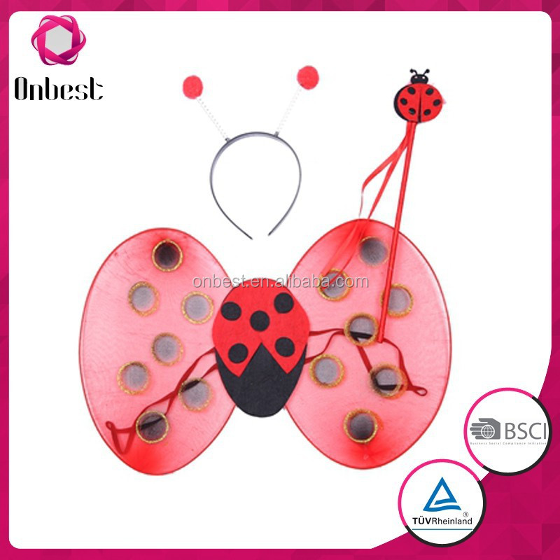 fairy wand angel fiber optic wings light Coccinella septempunctata wings