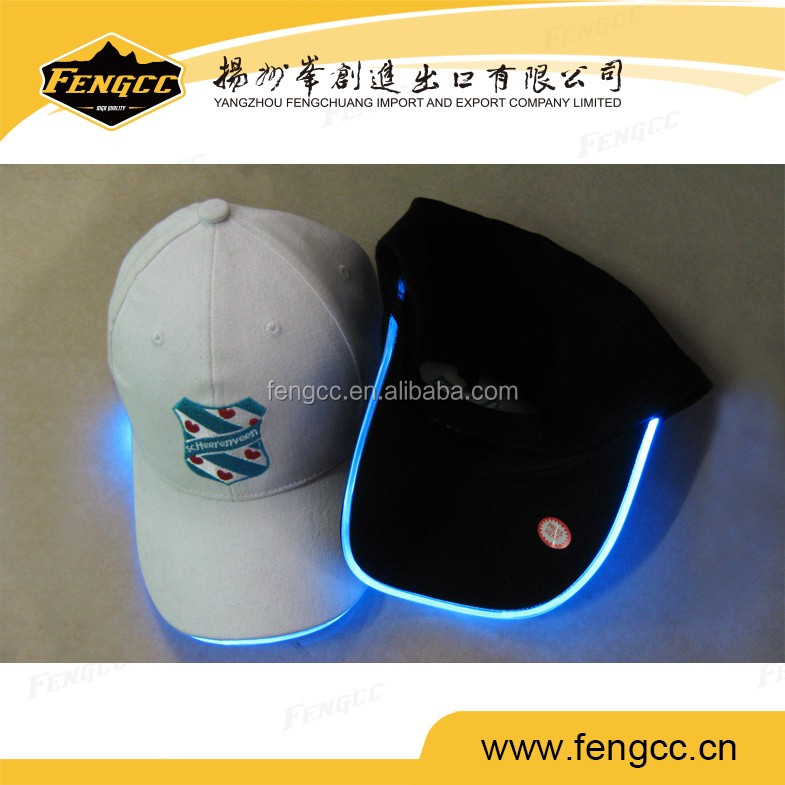 Promotional sport football team LED baseball cap