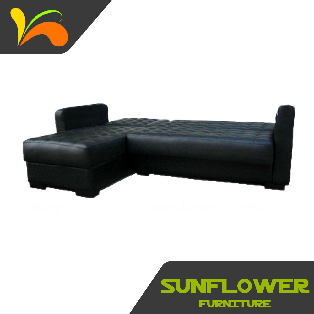 Modern Corner Leather Sofa Bed Furniture With Box Comer Product On