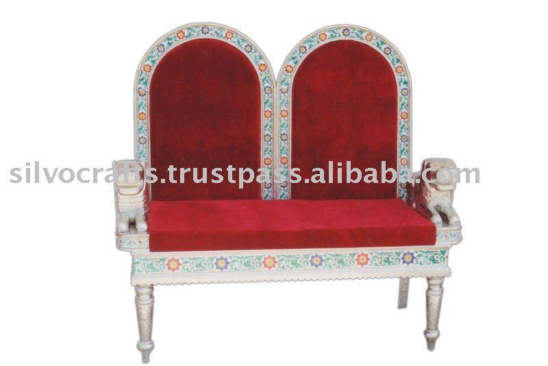 Bon White Metal And Meenakari Wedding Chair And Sofa   Buy White Metal And  Meenakari Wedding Chair And Sofa,Royal Wedding Sofa Chairs,Wedding Sofa  Chairs ...