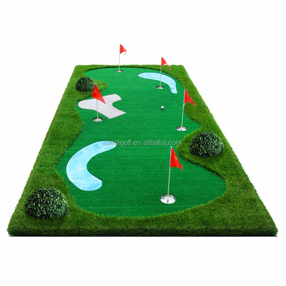 Simulation Mini Golf Putting Green De Golf Mettant Tapis Golf