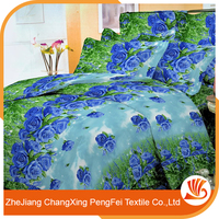 Fashion new design 3d printed bed cover fabric for home textile