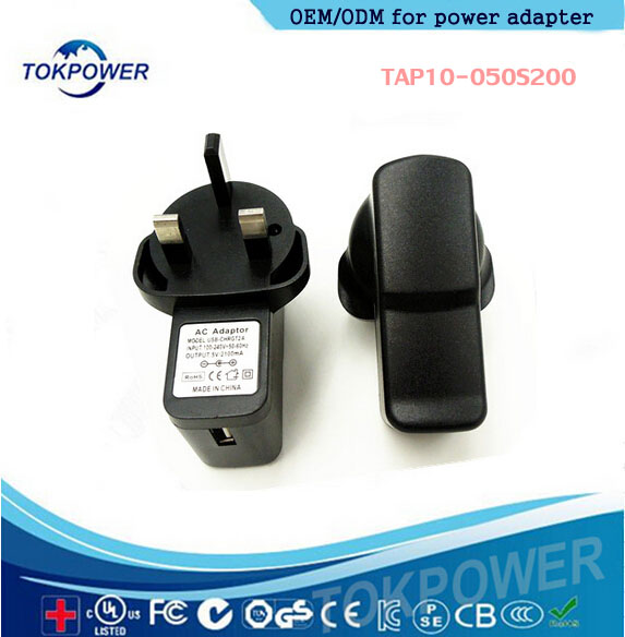UK Mains USB Wall Plug Charger Adapter 5v 2a 2 3 pin Travel Wall Adapter