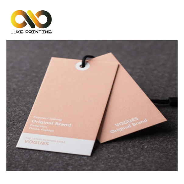 White card paper customized double side printed paper price hanging tag