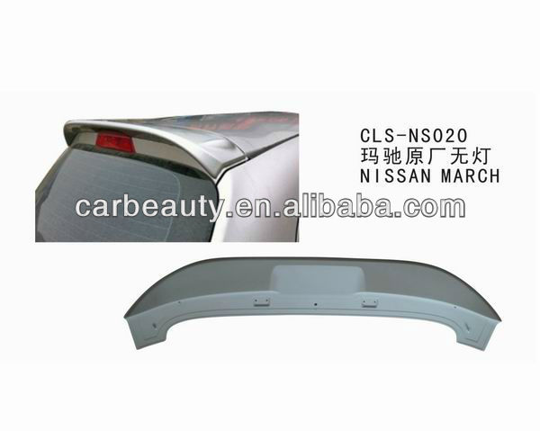 NS020 ABS car rear roof spoiler for NISSAN MARCH