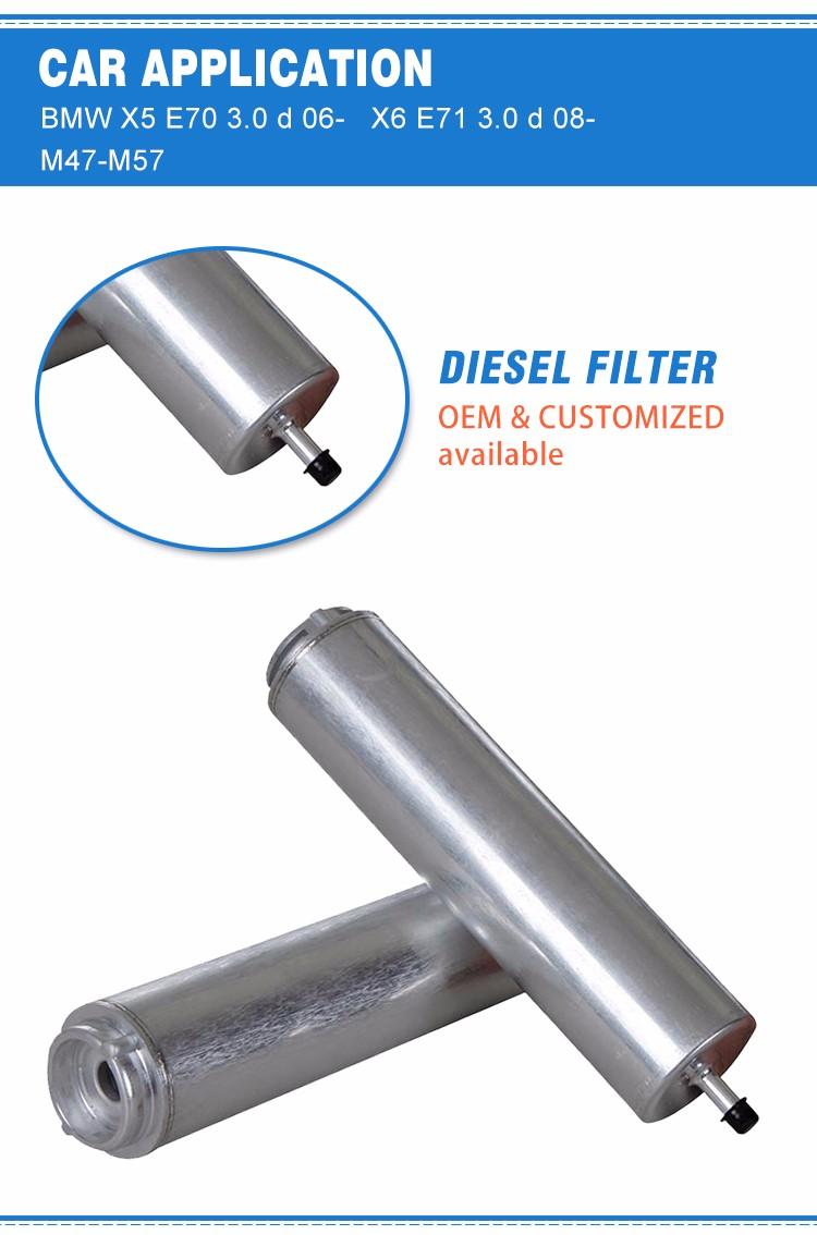 Auto Fuel Filter 13327811401 Wk5001 Kl169 3d H247wk01 Untuk Bmw X5 E70 X6