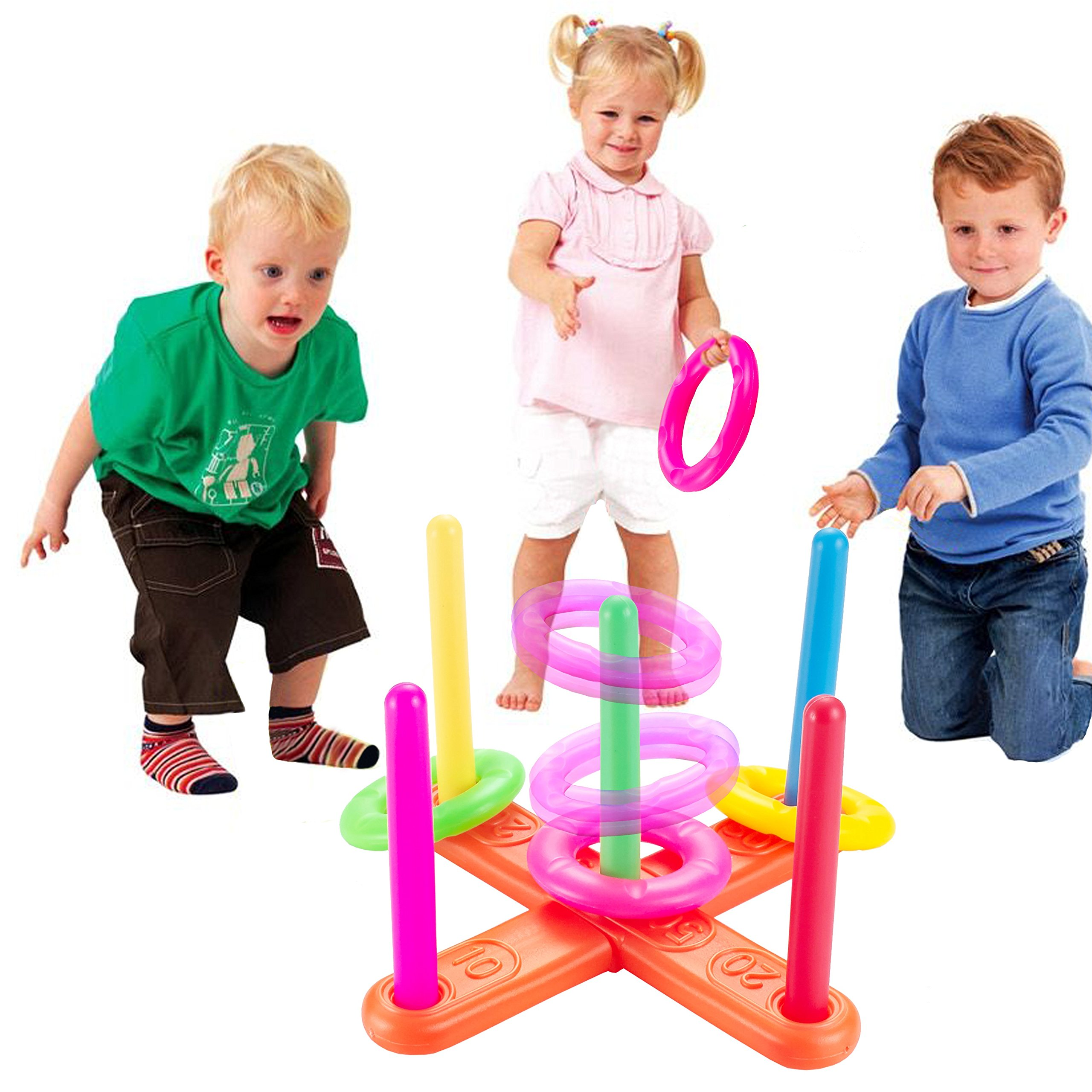 Minihorse-Ring Toss Game,Kids Games Improve Eye-Hand Coordination and Fine Motor Skills,Loop Hoop Ring Toss Game,Outdoor/Indoor Quoits Ring Game For Kids or Family(small) Gift for Kids 3-7 Years Old