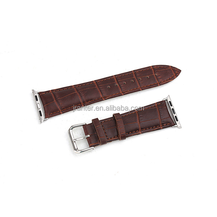 100% CrocodileLeather 19mm Watch Strap