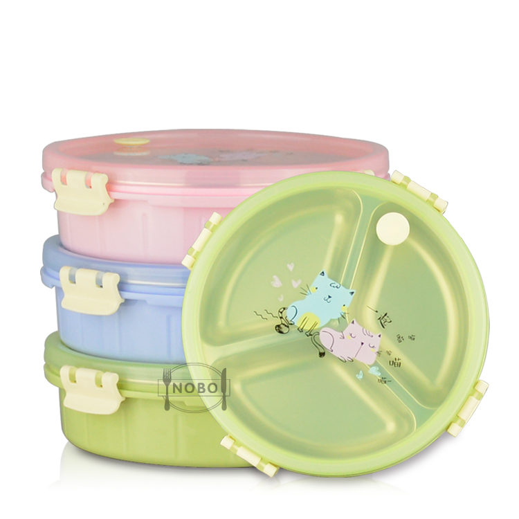 High Quality Lunch Box 3 Divided Food Storage Container 304 Stainless Steel Lunch Tiffin Carrier For Safe