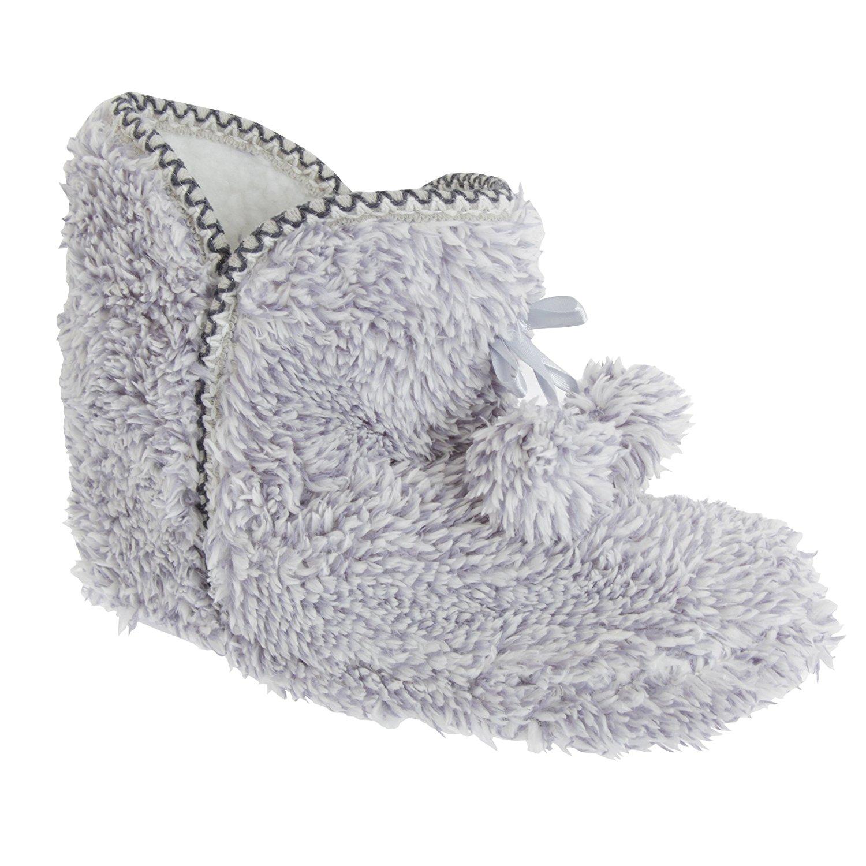 f64de385b862 Get Quotations · Slumberzzz Womens Ladies Fluffy Textured Pom Pom Slipper  Boots