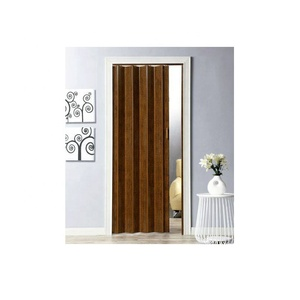 PVC Magnet Folding Doors With Wooden Grain