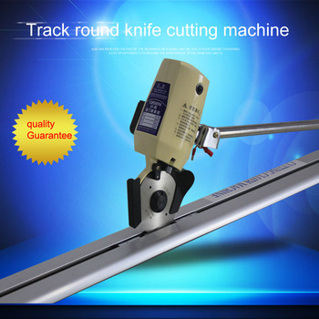Fabric Round Knife End Cutter Cutting Machine With Track