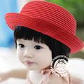 New Children Straw Sun Cap Korean High Level Handmade Snapback Hot Sales Sun Hat Breathable Spring