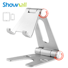 Rotating adjustable alloy desk smartphone mobile phone roller holder table metal stand 270-degree rotation aluminum