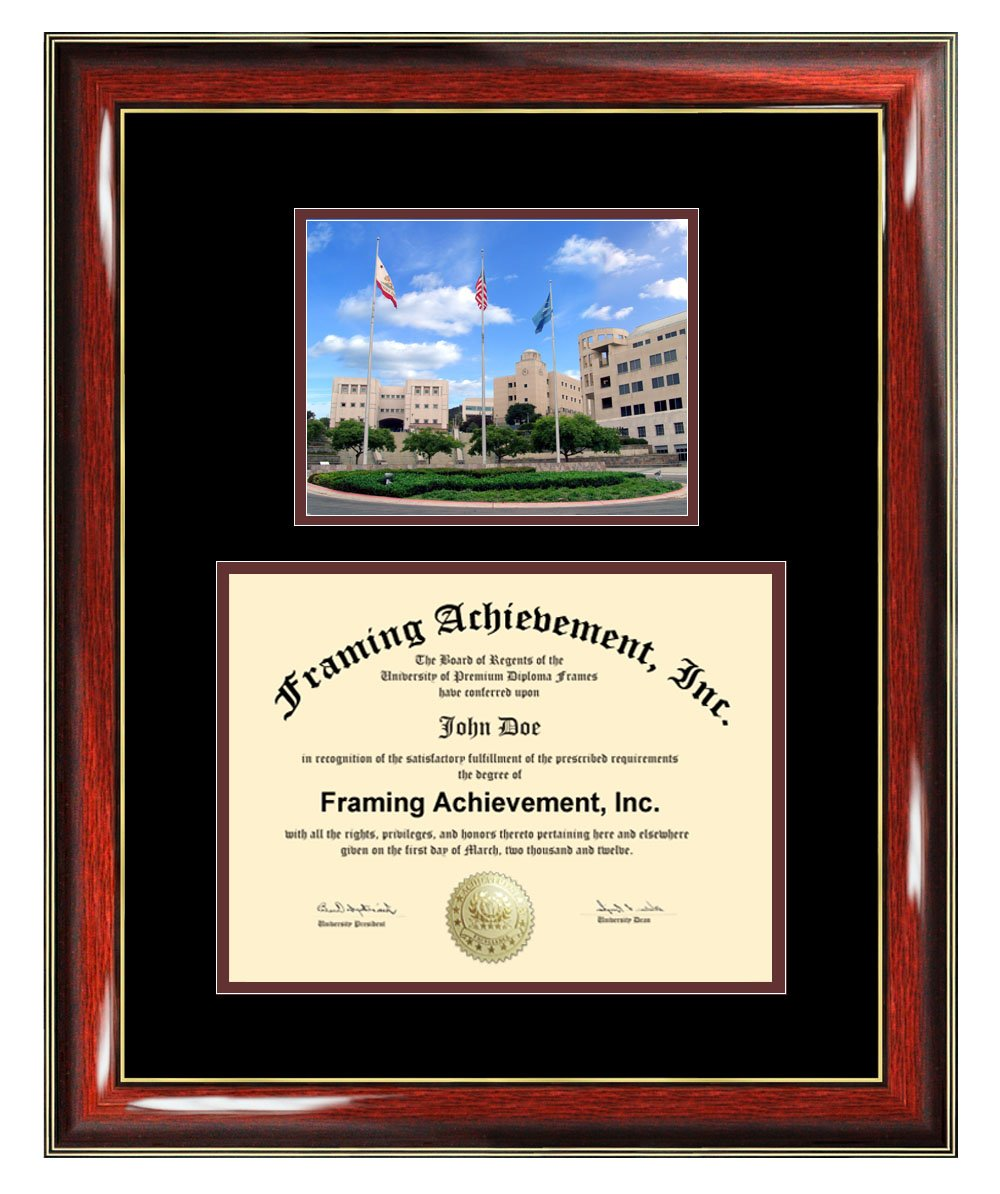 California State University San Marcos Diploma Frame - CSUSM Graduation Degree Frame - Matted San Marcos State College Photo Certificate Plaque Framing Graduate Gift