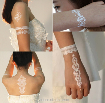 Custom Special Wedding White Temporary Tattoo Henna View Henna