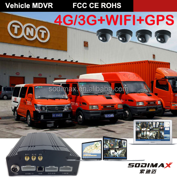 3G GPS WIFI G-Sensor UPS /Max 2 TB HDD 8 Channel Mobile DVR with CE+ROHS+FCC for Bus with GPS