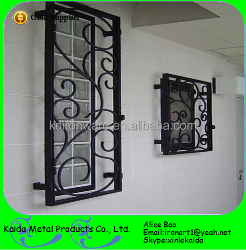 Security Wrought Iron Window Railing Grill For School