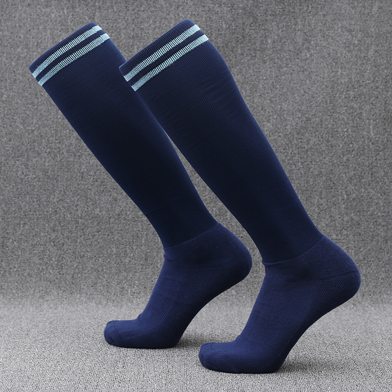 Mens graduated elastic compression football socks