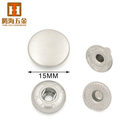 Round hidden press studs fastener metal snap button