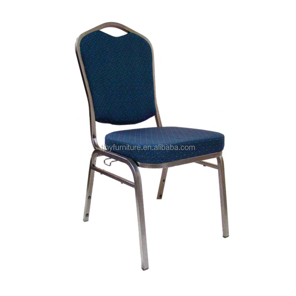 New Top Seller Dark Blue Chairs Church Furniture With Gold Frames