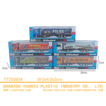 Free wheel vehicle series die cast trailer Sliding container trucks