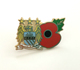 football club poppy enamel pin badge custom poppy badge