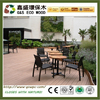 Easy install pvc exterior composite decking anti-uv wooden flooring