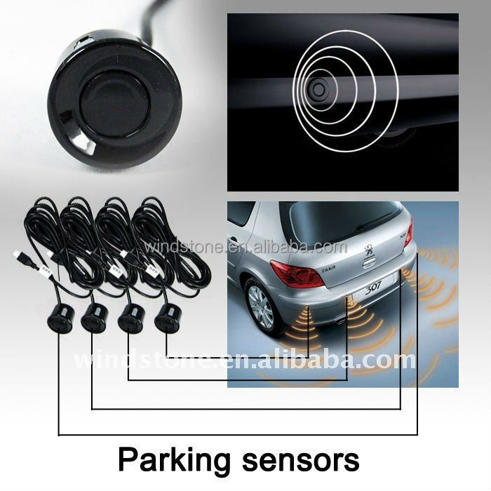 Hot sales! Wireless LCD Display car reverse parking sensors with rearview mirror