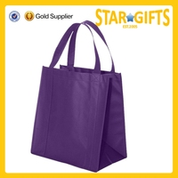 Non-woven purple shopping bag from alibaba China