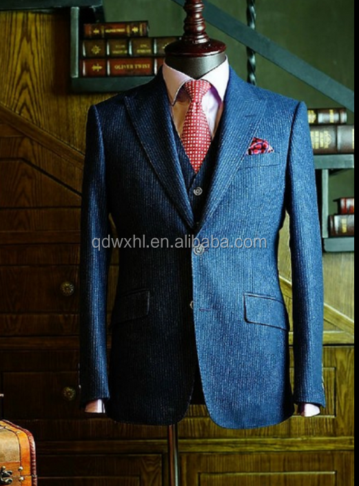Slim Fit Business Men Cotton Suit with Italian Style
