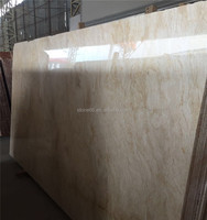 Natural Stone Polished Yellow Cream Beige Travertine Tile Marble Floor Tile