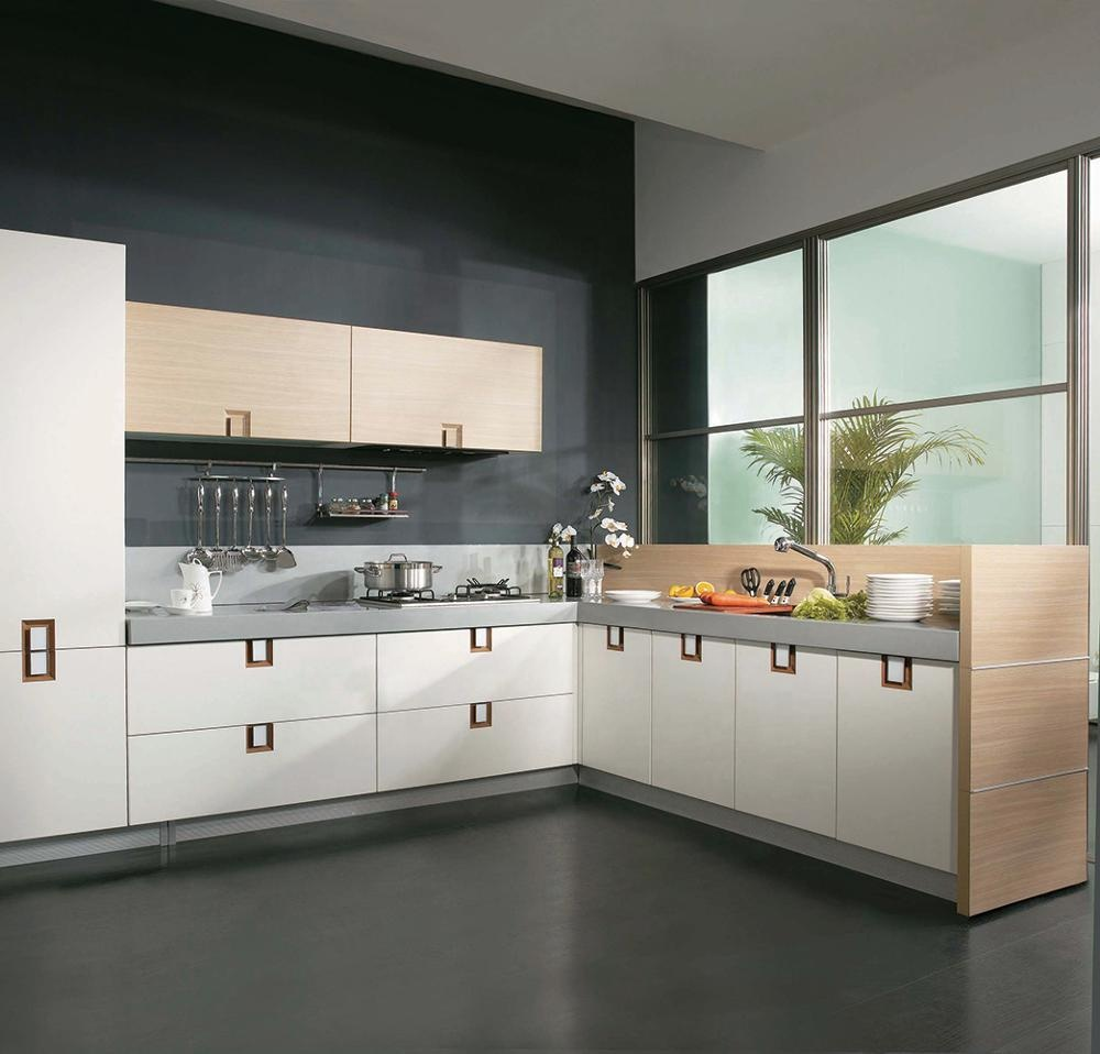 L Shaped Modular Kitchen Designs Acrylic Cabinets Price Island Factory Whole Cabinet
