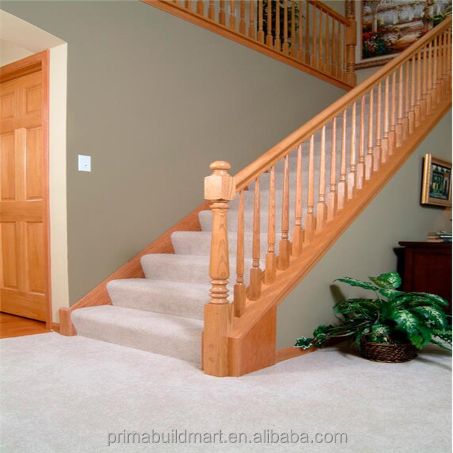 Antique residential staircase wood stair treads straight stairs for sale