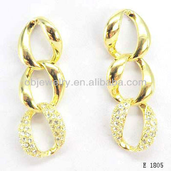 Fashion Jewelry Gold Jhumka Earrings Cubic Zirconia Buy Gold
