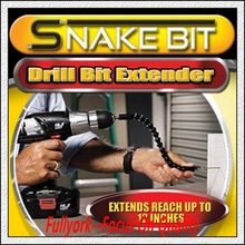 As Seen On TV Flexible Drilling Kit Snake Bit Drill Extender
