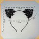 High Quality Funny Adult Jokes Black Cat Ear Lace Headband