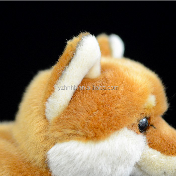 OEM Realistic Plush Dog Toys Cute Simulation Yellow Dog Stuffed Animal Dolls Soft Toys For Children Gifts