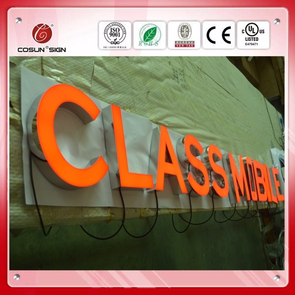 waterproof luminous word,stainless steel word for outside